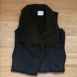 Cozy shearling vest